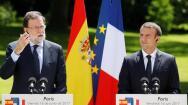 En imágenes: la reunión entre Mariano Rajoy y Emmanuel Macron
