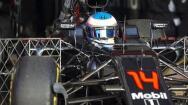 Alonso ya rueda con el McLaren