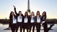 Las modelos de Victoria's Secret de turismo por París