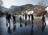 En imágenes: La ola de frío que recorre Europa