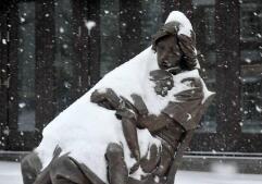 Fuertes nevadas en Estados Unidos