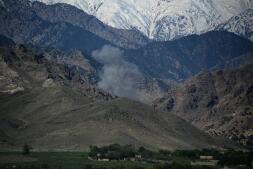Las imágenes tras el desastre: el terreno en el que cayó la «madre de todas las bombas»