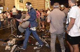 Estampida en Turín por el temor a una bomba durante la final