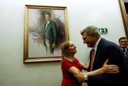 Los expresidentes del Congreso de los Diputados y sus retratos
