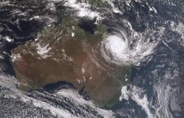 El rastro del ciclón Debbie en Australia