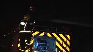 Devastador incendio en un polígono industrial de Coruña