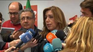 Susana Díaz y el ministro de Interior visitan las zonas afectadas por las inundaciones de Málaga