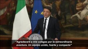 Dimite Matteo Renzi tras la victoria del 'no' a su reforma constitucional en Italia