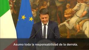 Matteo Renzi dimite como Primer Ministro de Italia