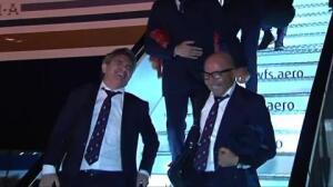 Caras sonrientes tras el pase a octavos de Champions del Sevilla