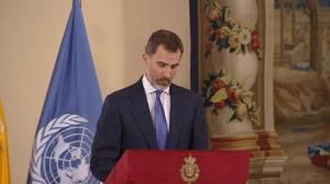 El rey defiende el turismo sostenible como vía para el fortalecimiento de la paz y la erradicación de la pobreza