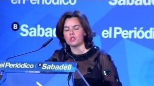 Soraya hace un alegato por la estabilidad en Barcelona
