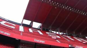 Continúan las obras en el Sánchez Pizjuán tras el susto del domingo