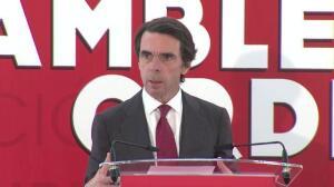 """Aznar llama a """"contrarrestar"""" el secesionismo catalán"""