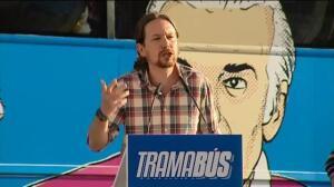 Pablo Iglesias clausura el Tramabús en Madrid