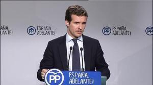 Casado dice que el PP no ha pedido a Aguirre que dimita