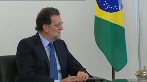 Rajoy se reúne con Temer en Brasilia