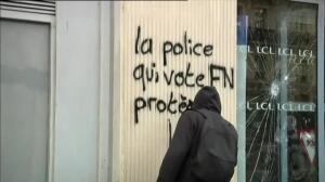 Graves disturbios en París en una protesta estudiantil contra Macron y Le Pen