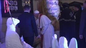 El papa Francisco consuela a los coptos de Egipto