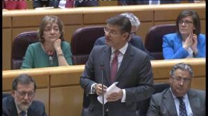 """Catalá advierte a Podemos de que acusar a los fiscales de """"no ser imparciales"""" no puede quedar impune"""