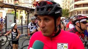 Los ciclistas toman las calles para reclamar más seguridad en carretera