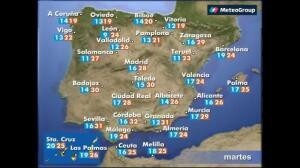 Previsión del tiempo para este martes 30 de mayo