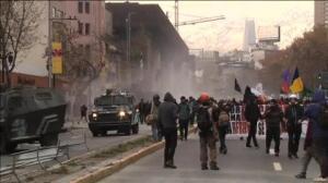 50 detenidos en una protesta estudiantil en Chile