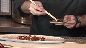 Fusión de cocina japonesa y picota del Jerte