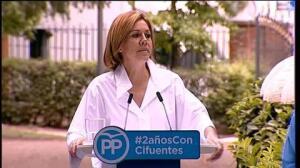 "Cospedal: ""Nadie va a quitar"" la soberanía a españoles"