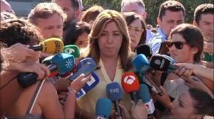 """Susana Díaz: """"No vamos a permitir ninguna recalificación de las zonas afectadas por el incendio"""""""