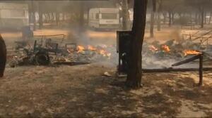 El camping de Doñana donde se alojaban 4000 personas ha quedado arrasado