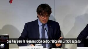 "Puigdemont asegura que el sistema político español ""está carcomido"""