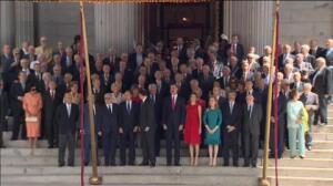 Los Reyes presiden el acto de conmemoración del 40 aniversario de las primeras elecciones democráticas