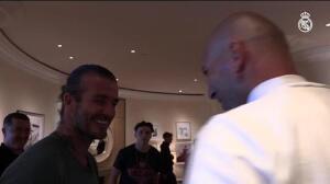 Beckham visita al Madrid en Los Ángeles