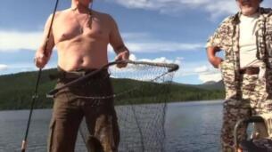 Putin, de pesca en el sur de Siberia