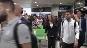 Locura merengue a la llegada del Real Madrid a La Coruña