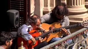 Conciertos de flamenco en los balcones de Pamplona