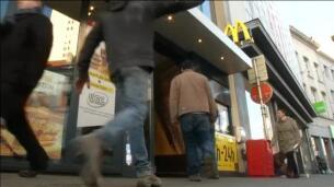 Los empleados de dos McDonald's de Reino Unido, en huelga