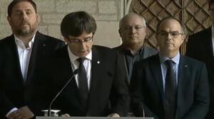 "Puigdemont denuncia ""agresión coordinada"" contra Govern"