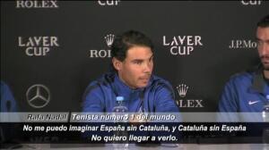 """Rafa Nadal: """"No me puedo imaginar Cataluña sin España"""""""