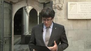 """Puigdemont: """"Estoy completamente seguro que ganaremos el desafío que nos plantea un Estado autoritario"""""""