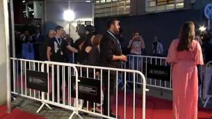 Posado de Mónica Bellucci en la alfombra roja del Zinemaldia