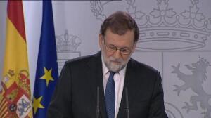 """Mariano Rajoy: """"No se acaba con el autogobierno, se cesa a las personas que lo han puesto en peligro"""""""