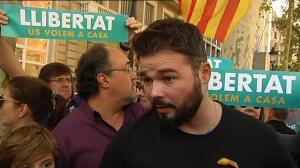 """Rufián acusa a PP, PSOE y Ciudadanos de formar un """"frente golpista"""" contra Cataluña"""
