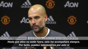 """Guardiola: """"Si me quieren sancionar por el lazo amarillo, adelante"""""""