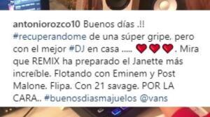 El hijo de Antonio Orozco, el mejor enfermero DJ