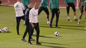 Segundo entrenamiento del Real Madrid en Abu Dhabi