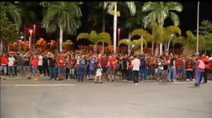 Incidentes entre hinchas del Flamengo e Independiente en la previa de la final de la Copa Sudamericana
