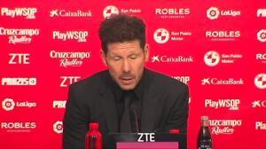 """Simeone: """"La eliminación de Copa es responsabilidad mía, pero aún quedan 4 meses"""""""