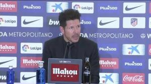 """Simeone: """"Cuanto más hablemos del tema, menos penaltis nos van a dar"""""""